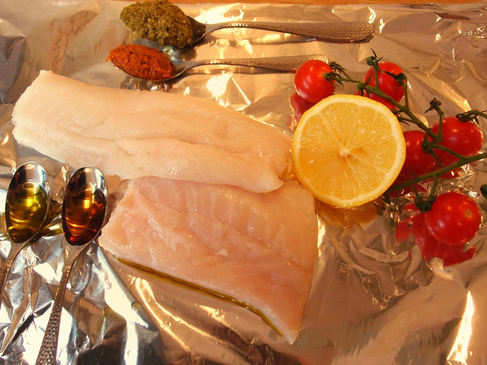 Pesto cod fish ingredients