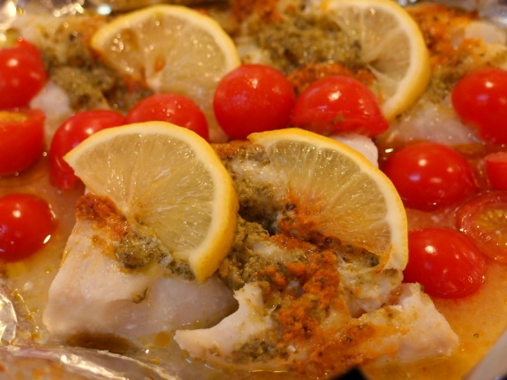 Pesto cod fish recipe