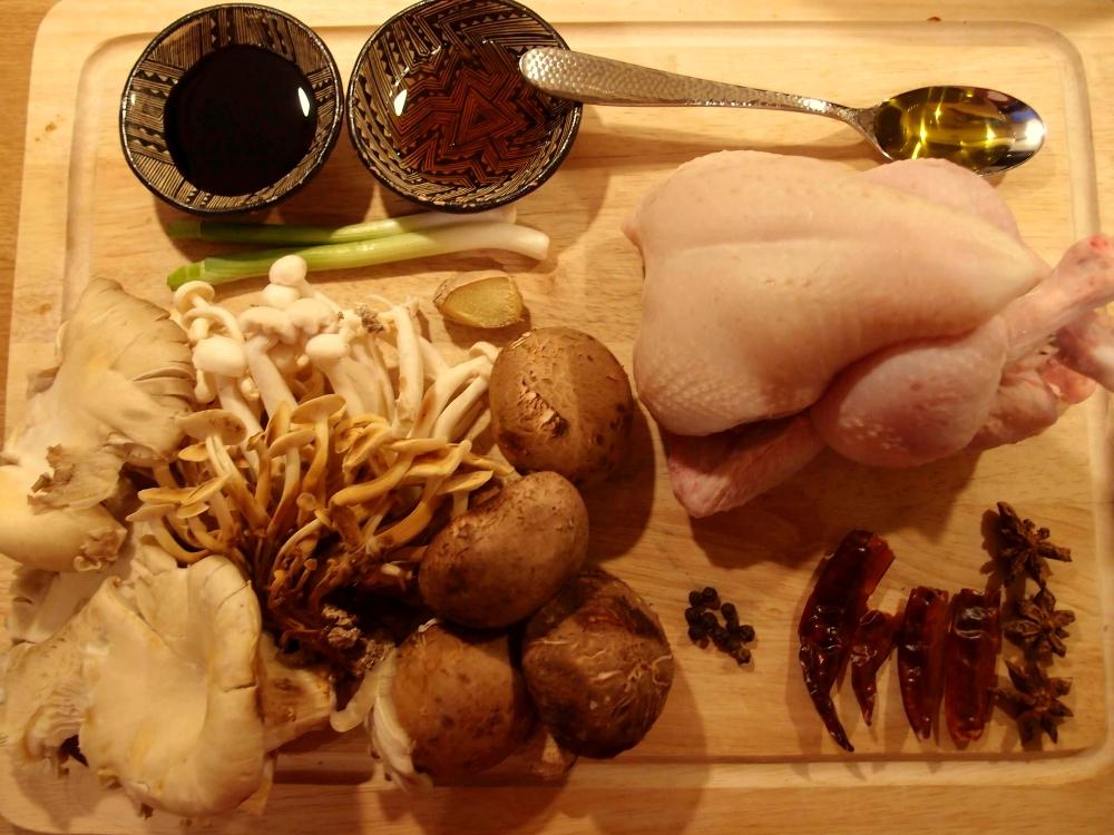 Chinese_poussin_mushroom_stew_ingredients