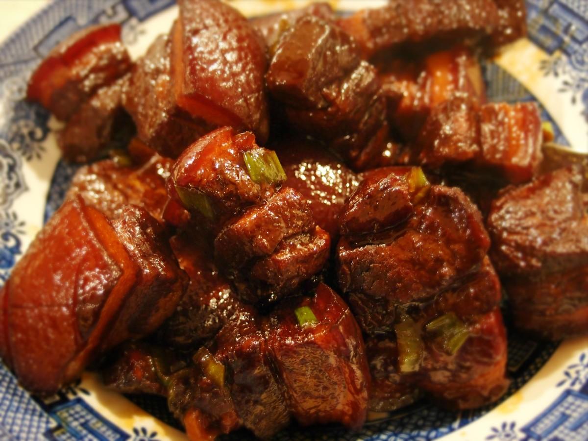 """... Red"""" braised pork belly recipe (hong shao rou) – Blender & Basil"""
