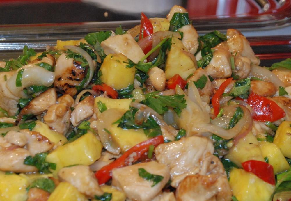 Ken Hom_interview_spicy chicken with pineapple_2