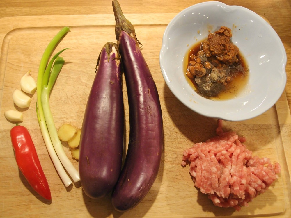 Aubergine in soya bean and meat sauce (Jiang Qie Zi) – a