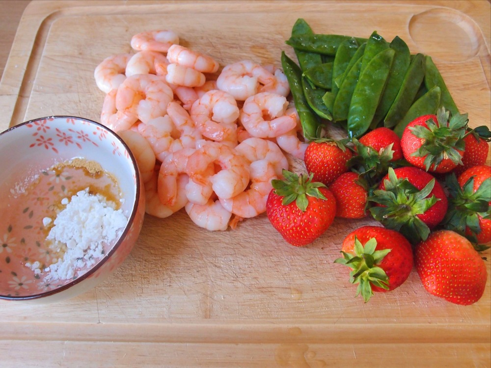 Strawberry_Prawns_Sweet_Pea_Stir_Fry_Savoury_Recipe