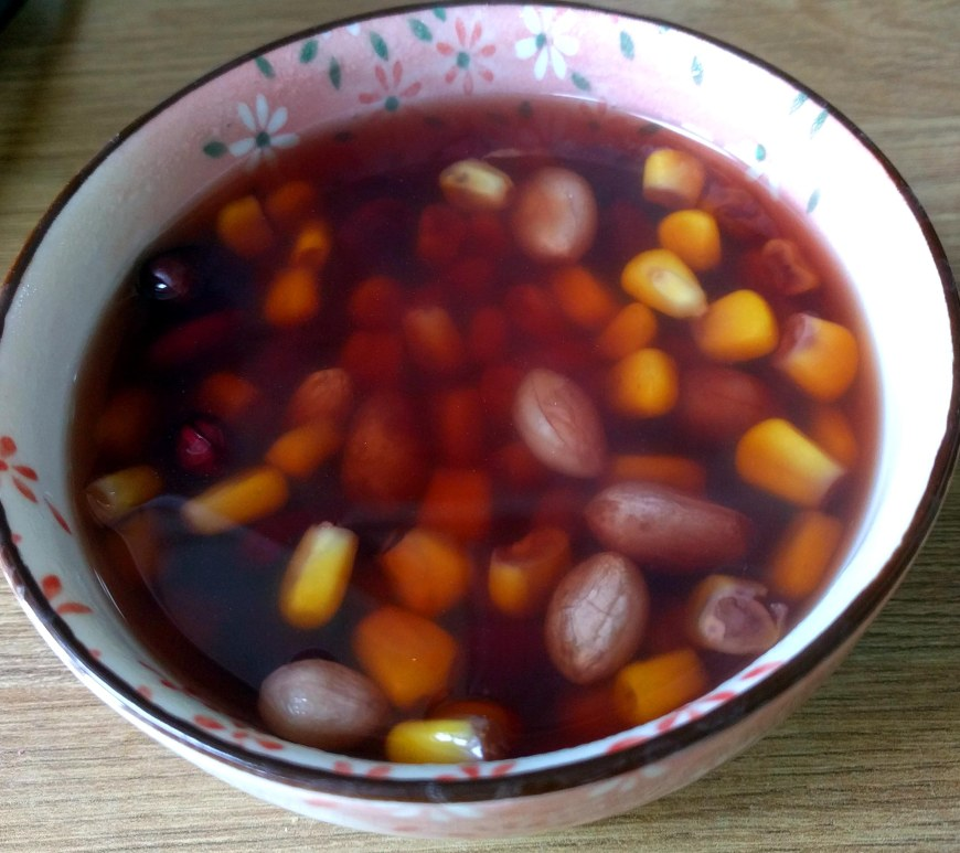 Corn and red kidney beans