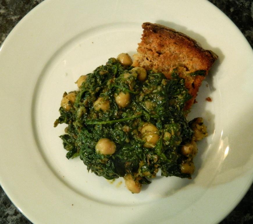 Spinach_Chickpeas_recipe_espinacas con garbanzos