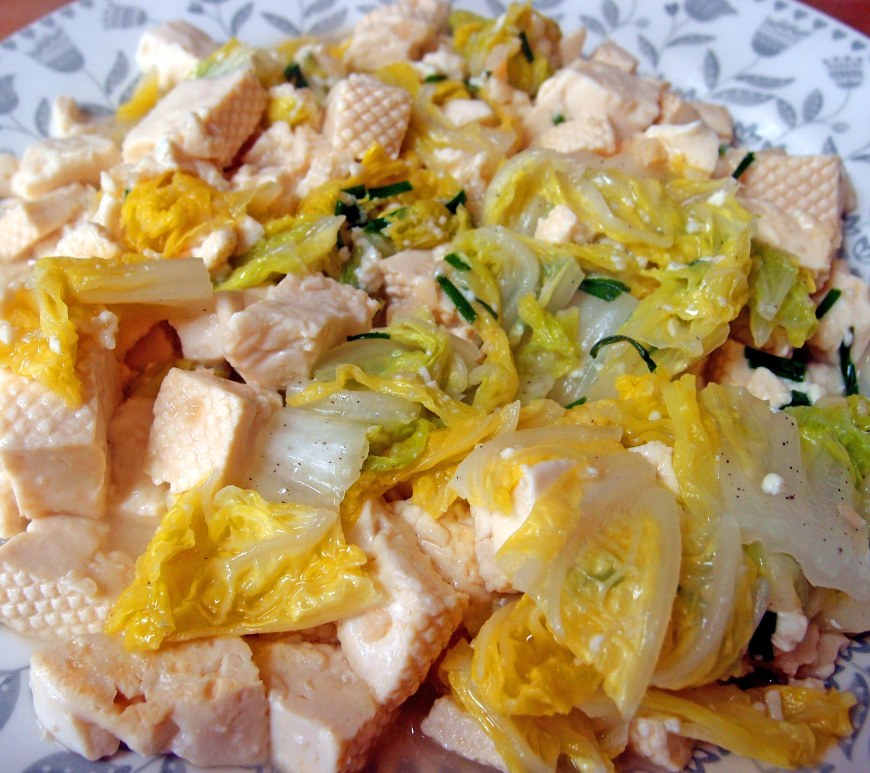 Tofu and Chinese Cabbage